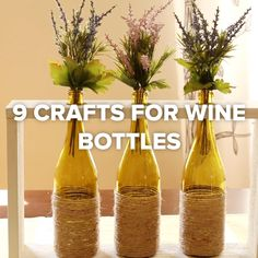 9 Crafts For Wine Bottles #DIY #creative #wine #upcycle #corks