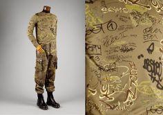 SLOGAN Jean Paul Gaultier, ensemble, 1994 (Costume Institute – Metropolitan Museum of Art) Jean Paul Gaultier, Metropolitan Museum, Slogan, Culture, History, Cover, Costume Institute, Art, Fashion