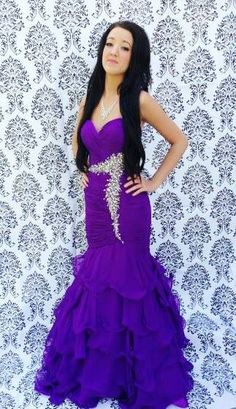 Tony bowls size 2/4 purple mermaid  formal dress for homecoming prom or pageants! *Dazzling Dress Rentals* Riverton, Utah!