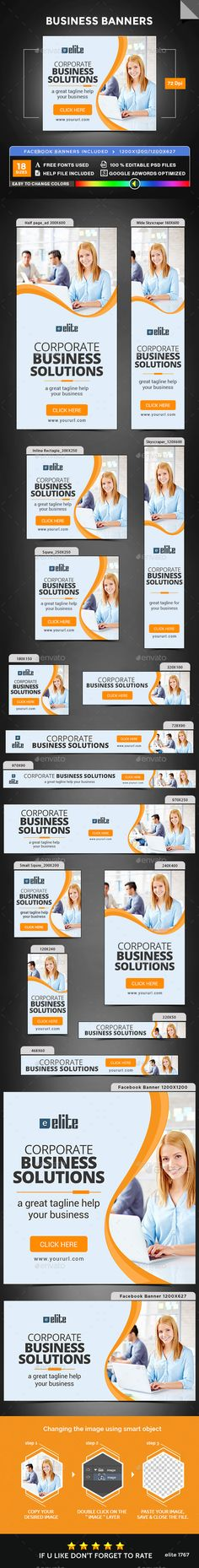 Business Web Banners Template PSD