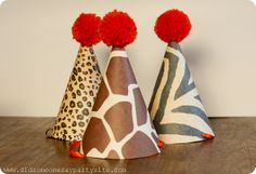 zoo party hats