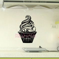Aliexpress.com : Buy Stickers Cupcake Cuisine Vinyl Wall Decals Wallpaper Mural Wall Sticker Art Kitchen Tile Decal Home Decor House Decoration from Reliable home decor fabrics online suppliers on Kililaya