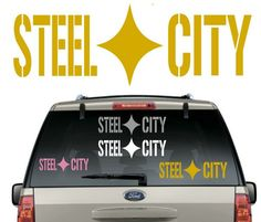 NFL Steelers Footbal Letters Decal Outdoors JDM Decal for Car etc.. Windows