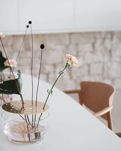 For more, visit our site. Just a few flowers in the Ikebana vase Captured by Ikebana Arrangements, Floral Arrangements, Floral Centerpieces, Wedding Centerpieces, Vase Design, Floral Wall Art, Plant Decor, Hand Blown Glass, Architecture