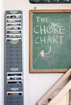 polaroid chore chart