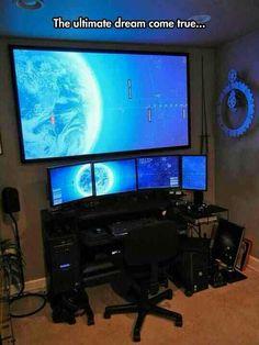 Ultimate Gaming Setup, Gaming Room Setup, Computer Setup, Gaming Computer, Gaming Rooms, Computer Workstation, Best Gaming Setup, Gamer Setup, Computer Coding