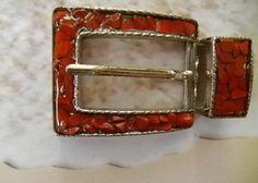 Women's Belt Buckle BRAZIL RED JASPER Belt Buckle by StonedBelts