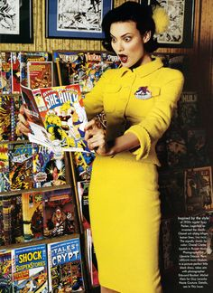 Shalom Harlow in a Chanel suit photographed by Bruce Weber for Vogue 1995