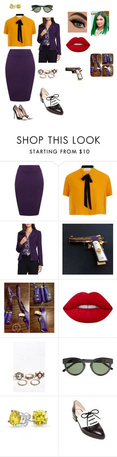 """""""Joker"""" by musictiger ❤ liked on Polyvore featuring WearAll, Elvi, Tahari by Arthur S. Levine, Lime Crime, 3.1 Phillip Lim, Bling Jewelry, Nine West and Gianvito Rossi"""