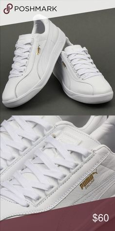 Puma Dallas OG Trainers White leather sneakers  Never been used or worn  BRAND NEW!!! Size 10 Puma Shoes Sneakers