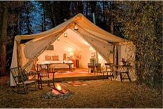 Glamping- The Perfect date night #love