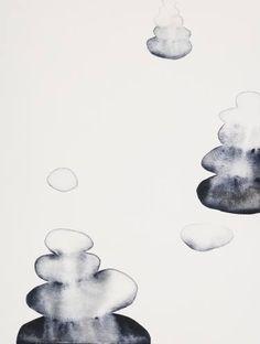 "Painting, ""On the Way"" gray watercolor stone cairn Stone Cairns, Watercolor Paintings, Original Paintings, Spiritual Transformation, Abstract Styles, Medium Art, Saatchi Art, Artsy, Symbols"