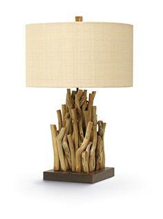 Palecek Forest Plantation Lamp, Natural