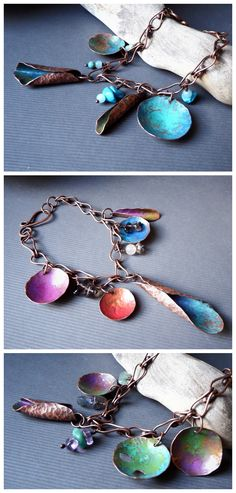 Gypsy Bracelets by Alice Savage. Handmade artisan jewelry with copper and gemstones, bohemian, hippie, crystal healing