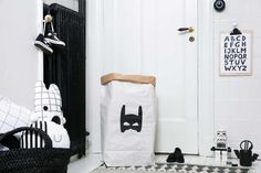 Superhero paperbag storage of toys books or teddy bears  Kids