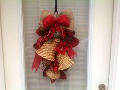 Christmas bell door hanging Christmas wreath by MariangeliDesigns