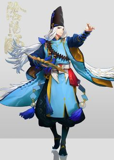 Day of division of yin and yang ties a hand You Anbei fine bright original painting Wallpapers fo. Fantasy Wizard, Fantasy Warrior, Fantasy Art, Character Design References, Game Character, Character Concept, Anime Kunst, Anime Art, Onmyoji Game