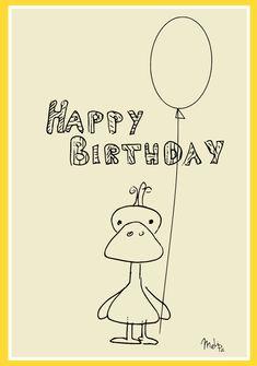 free printable Happy Birthday card – Happy Birthday Karte – freebie | MeinLilaPark