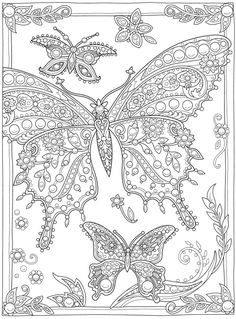 Welcome to Dover Publications Dover Coloring Pages, Spring Coloring Pages, Bird Coloring Pages, Free Adult Coloring Pages, Free Printable Coloring Pages, Free Coloring, Coloring Sheets, Creative Haven Coloring Books, Butterfly Coloring Page