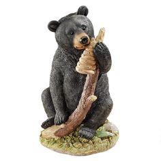 Honey, the Curious Black Bear Cub Statue
