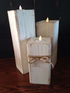 Excited to share this item from my shop: Farmhouse Candlesticks, Farmhouse Decor, Rustic Candles, Fixer Upper Candlesticks, Primitive Candlesticks Led Tealight Candles, Tea Light Candles, Tea Lights, Candleholders, 4x4 Wood Crafts, Scrap Wood Projects, Welding Projects, Rustic Candle Holders, Rustic Candles