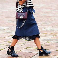 Balenciaga boots & Chanel boy bag
