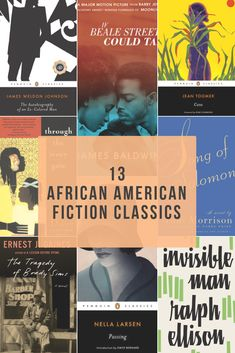 African American Fiction Classics These beloved classic novels by African American writers such as James Baldwin and Toni Morrison continue to shape the culture of America. James Baldwin, I Love Books, Good Books, Books To Read, My Books, Reading Books, Reading Lists, Book Challenge, Reading Challenge
