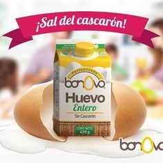 No esperes más sal del cascarón y prueba Bonovo #Bonovo #SaldelCascarón #Huevos #Cocina #Food #Comida #Delicioso