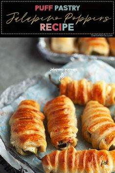 Puff pastry Jalapeno poppers are a quick way to enjoy spicy and savory jalapenos. Imagine cream cheese, shredded cheese, hot jalapenos, and delicious bacon in one crispy parcel. Best Appetizer Recipes, Tailgating Recipes, Best Appetizers, Brunch Recipes, Breakfast Recipes, Snack Recipes, Dinner Recipes, Appetizer Ideas, Breakfast Ideas