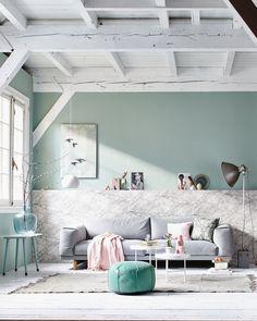Jeroen van der Spek:::Interior   stillstars.com >> love the soft pastel color palette in this living room space >> home decoration / interior design