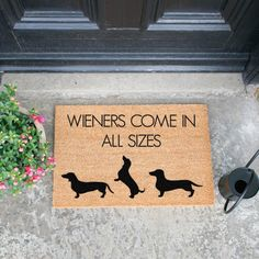 Happy Larry Give you and your guests a grand welcome to your home with this Derbyshire Doormat. All longwave are crafted from a high-quality tufted coconut fibre! Choose the perfect design for you & your home. Coir Doormat, Hazelwood Home, Derbyshire, Humor, Exterior Paint, Bird Houses, Dachshund, Artsy, Textiles
