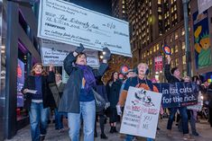 More than 100 protesters met at Greeley Square in Midtown Manhattan on November 27, 2017, and marched to raise awareness against the irresponsible GOP tax plan that cuts Medicare and increases healthcare costs for older New Yorkers. (Photo: Erik McGregor / Pacific Press / LightRocket via Getty Images)