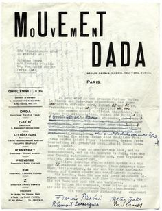 Dada typography - Its objective was to propose a new form of reading, one that was explosive, anti-linear.