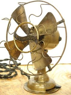 Antique Westinghouse All Brass Brass Blade Electric Desk Fan 20s Vintage Working | eBay