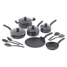 T-fal Simply Clean Total 15 piece Charcoal Non-Stick Cook Set