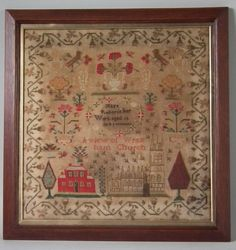 1846 Welsh Sampler by Mary Roberts