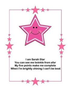 Shape PoemsShapes include;- Circle- Square- Triangle- Rectangle- Oval- Star- Octagon - Diamond- Trapezoid- Hexagon10 shapes totalCliparts used;- Shapes by Love Two Teach- Star borders by Erin Thomson's Primary Printables