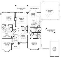 Get a glimpse of the beautiful Lily Rose House Plan 1st Floor Layout!- http://www.archivaldesigns.com/home-plans/lily-rose-house-plan