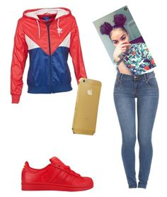 """""""You gonna think about me when I am gone"""" by queengoldi ❤ liked on Polyvore featuring adidas"""