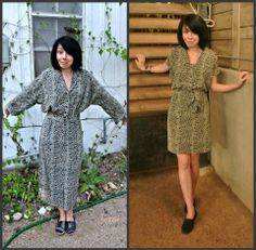 Another fun post from one of my fav bloggers. She traveled with just her sewing machine and made this from thrift find!