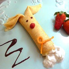 Fun Food Kids bunny rabbit hase häschen ostern eastern crepes sweet süß tiere animals