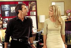 Mel Gibson and Helen Hunt in Paramount's What Women Want - 2000 Nick Marshall, Helen Hunt, What Women Want, Mel Gibson, English Movies, Por Tv, Paramount Pictures, American Actors, Boss Lady