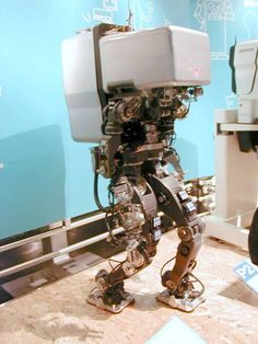 It's coming for you, albeit slowly. Honda bipedal robot #1993