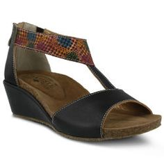 Handpainted T-Strap Sandal by Spring Step®