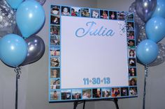 Winter Themed Photo Border Sign in Board