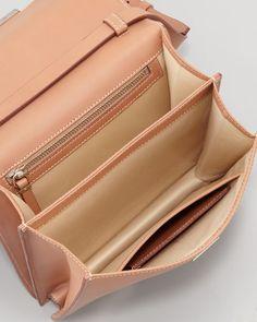 Classic Leather Shoulder Bag, Brown