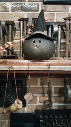 Fall 2014, carved black cat gourd
