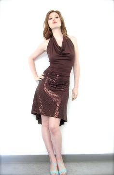 hot copper tango dress