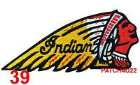 INDIAN PATCH EMBROIDERED SEW / IRON FITFOR INDIAN MOTORCYCLE BIKER SCOUT CHIEF