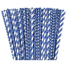 Navy Nautical Paper Straws - 75 pack of 100% Biodegradable Paper Straws for Baby or Bridal Showers Decor, Birthdays, Weddings, and Bachelorettes Parties - Summer Theme Backyard Party Decoration Ideas ** For more information, visit now : Wrapping Ideas